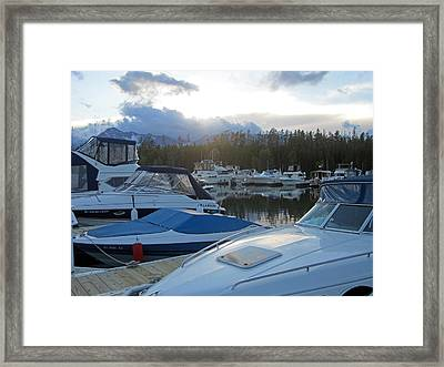 Boat Night Framed Print by Mike Podhorzer