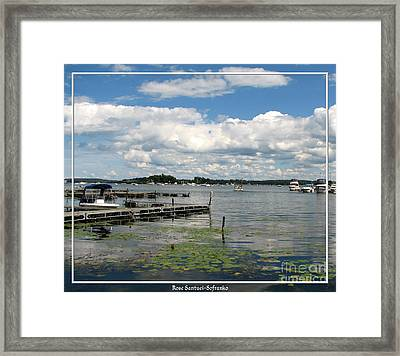 Boat Pier On Lake Ontario Framed Print by Rose Santuci-Sofranko