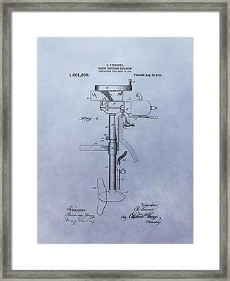Boat Propeller Patent Drawing 1911 Framed Print by Dan Sproul