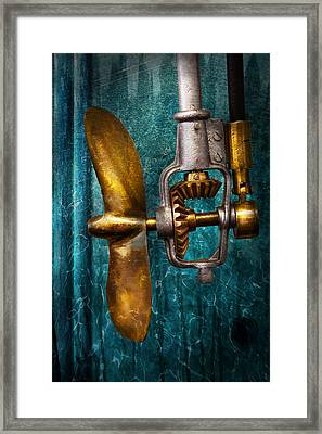 Boat - Propulsion  Framed Print by Mike Savad