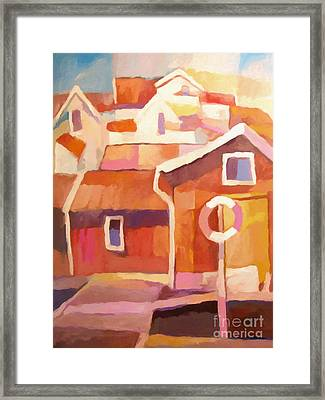 Boathouse Framed Print by Lutz Baar