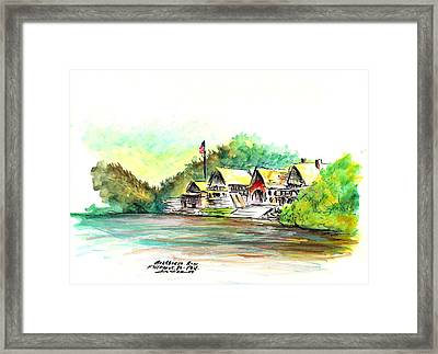 Boathouse Row Framed Print by Joseph Levine
