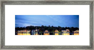 Boathouse Row Philadelphia Pennsylvania Framed Print by Panoramic Images