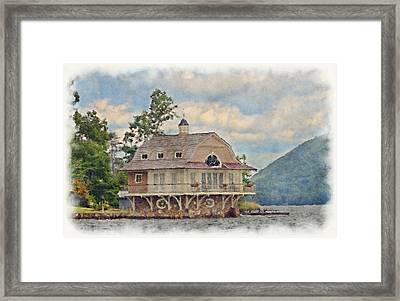 Boathouse  Framed Print by Susan Leggett
