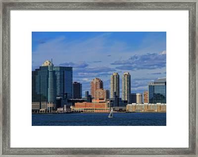 Boating In Manhattan Framed Print by Dan Sproul