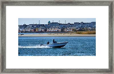 Boating In New York Harbor Framed Print by Dan Sproul