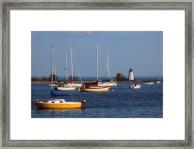 Boating On Long Island Sound Framed Print by Joann Vitali