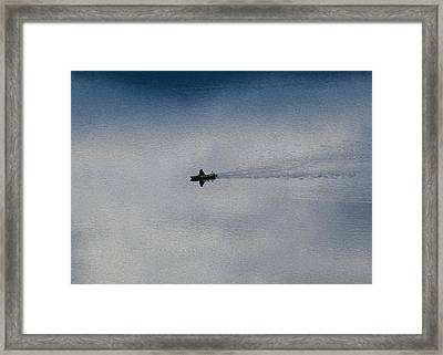 Boating Through The Clouds Framed Print by Omaste Witkowski