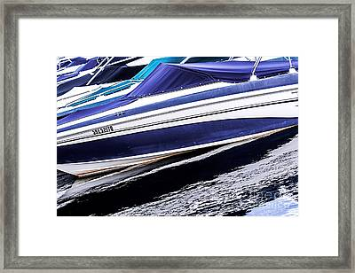 Boats And Reflections Framed Print by Elena Elisseeva