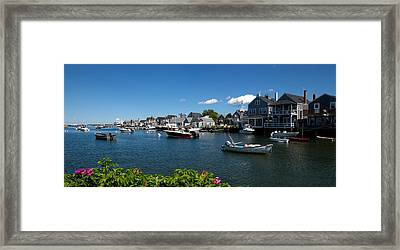 Boats At A Harbor, Nantucket Framed Print by Panoramic Images