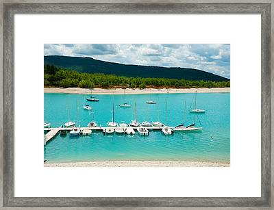 Boats At A Harbor, Port Margaridon Framed Print by Panoramic Images