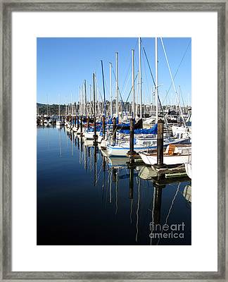 Boats At Rest. Sausalito. California. Framed Print by Ausra Huntington nee Paulauskaite