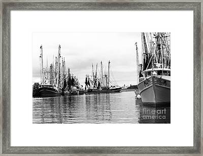 Boats In The Harbor Framed Print by Robert Yaeger