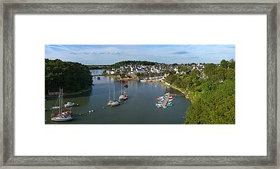 Boats In The Sea, Le Bono, Gulf Of Framed Print by Panoramic Images