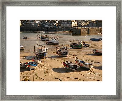 Boats On Beach 03 Framed Print by Pixel Chimp