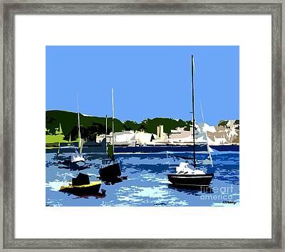 Boats On Strangford Lough Framed Print by Patrick J Murphy