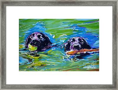 Bob And Weave Framed Print by Molly Poole