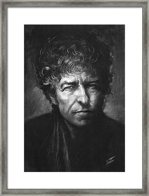 Bob Dylan Framed Print by Viola El