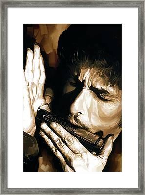 Bob Dylan Artwork 2 Framed Print by Sheraz A