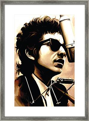 Bob Dylan Artwork 3 Framed Print by Sheraz A