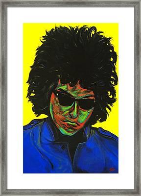 Bob Dylan Framed Print by Edward Pebworth
