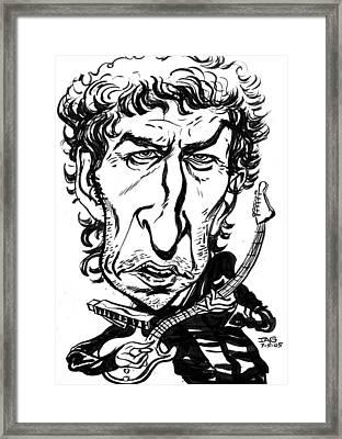 Bob Dylan Framed Print by John Ashton Golden
