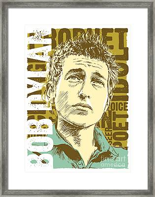 Bob Dylan Pop Art Framed Print by Jim Zahniser