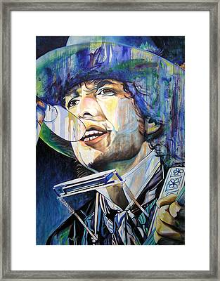 Bob Dylan Tangled Up In Blue Framed Print by Joshua Morton