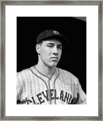 Bob Feller Looking Into Camera Framed Print by Retro Images Archive