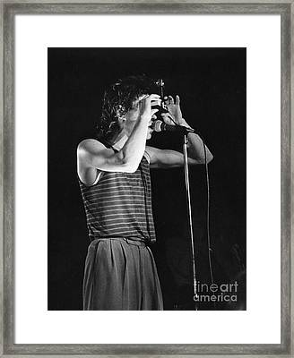 Bob Geldof With The Boomtown Rats Framed Print by Joyce Weir