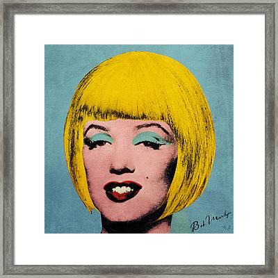 Bob Marilyn  Framed Print by Filippo B