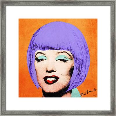 Bob Marilyn Variant 3 Framed Print by Filippo B
