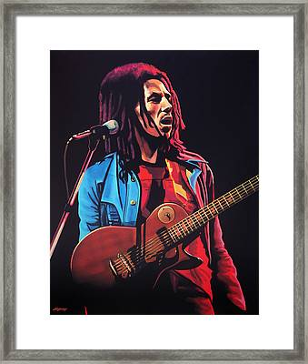 Bob Marley Tuff Gong Framed Print by Paul Meijering