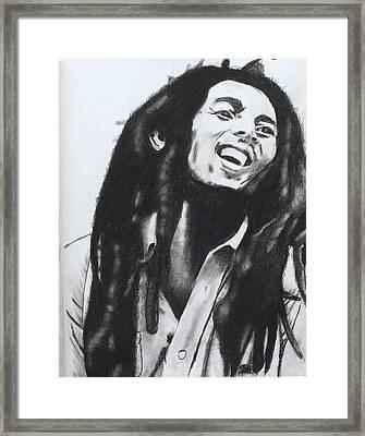 Bob Marley Framed Print by Aaron Balderas