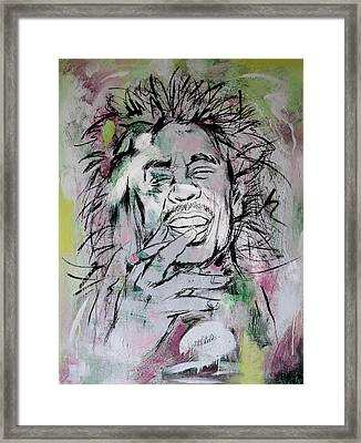 Bob Marley Art Painting Sketch Poster Framed Print by Kim Wang