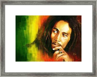 Bob Marley Framed Print by Cool Canvas