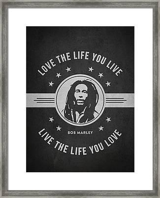 Bob Marley - Dark Framed Print by Aged Pixel