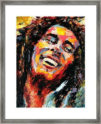 Bob Marley Framed Print by Derek Russell