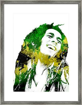 Bob Marley Framed Print by Mike Maher