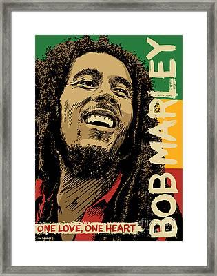 Bob Marley Pop Art Framed Print by Jim Zahniser