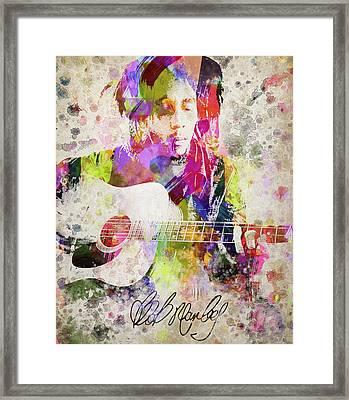 Bob Marley Portrait Framed Print by Aged Pixel