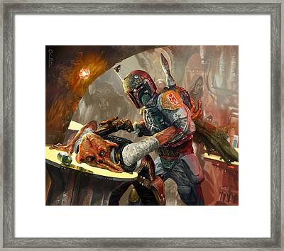 Boba Fett - Star Wars The Card Game Framed Print by Ryan Barger