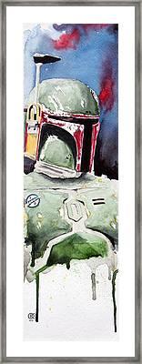 Boba Fett Framed Print by David Kraig