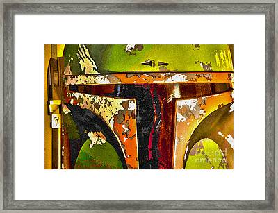 Boba Fett Helmet 13 Framed Print by Micah May