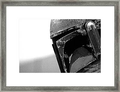 Boba Fett Helmet 24 Framed Print by Micah May