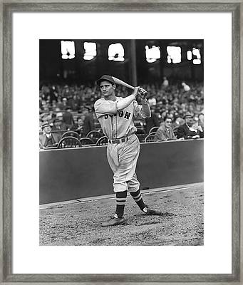 Bobby Doerr Warm Up Swing Framed Print by Retro Images Archive