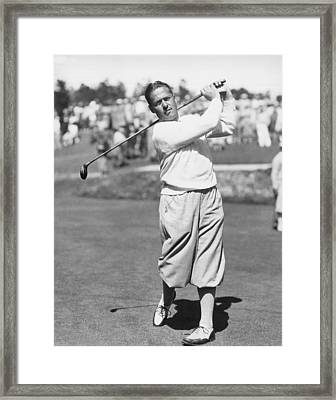 Bobby Jones At Pebble Beach Framed Print by Underwood Archives