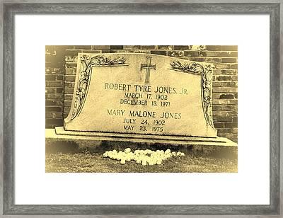 Bobby Jones Framed Print by Joan Carroll