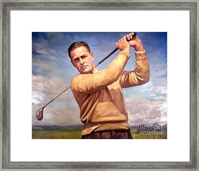 bobby Jones Framed Print by Tim Gilliland