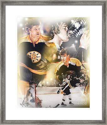 Bobby Orr Framed Print by Mike Oulton
